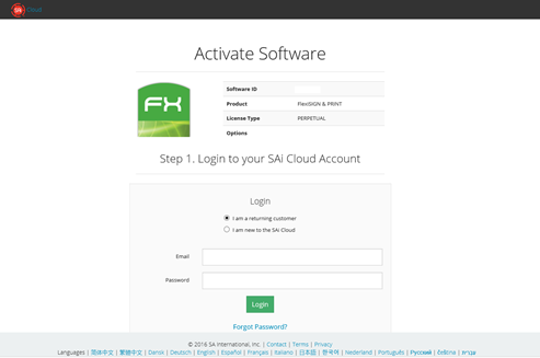 Creating an SAi Cloud account